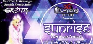 Sunrise Music Festival 2016 in Bhavnagar at OM Party Plot on Valentine Day 14th February