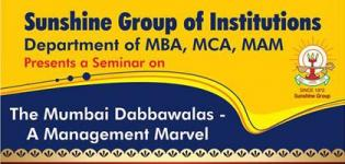 Sunshine Group of Institutions Rajkot Presents Seminar 2016 on The Mumbai Dabbawalas