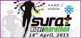 Surat Night Marathon 2015 Gujarat on 18th April - Date Venue