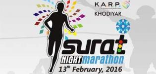 Surat Night Marathon 2016 on 13 February - 4th Edition of Surat City Night Half Marathon