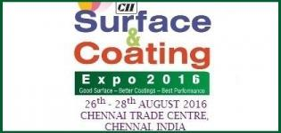 Surface & Coating Expo (SCE) 2016 Chennai at Chennai Trade Centre on 26 to 28 August