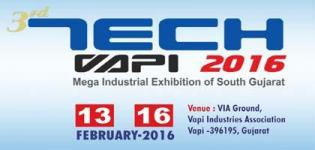 Tech Vapi 2016 Mega Industrial Exhibition of South Gujarat & Daman Silvassa