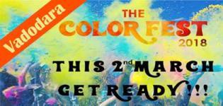 The Color Fest Event 2018 for Holi Festival in Vadodara Date and Venue Details