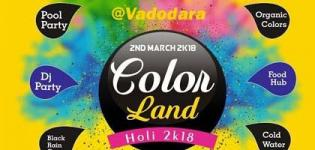 The Color Land Holi Fest 2018 Celebration in Vadodara at JK Patel Farm Baroda