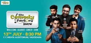 The Comedy Factory Show for Entertainment Arrange at C C Mehta Auditorium, Vadodara