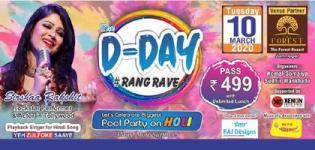 The D Day Rangrave - Holi Party 2020 in Jamnagar at The Forest Resort