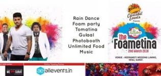 The Foametina 2018 Holi Event in Surat at Heera Moti Wedding Lawns