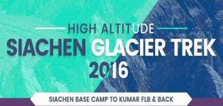 The Siachen Glacier Trek 2016 Starting on 15th August - Date Venue Details