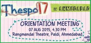Thespo 17 Orientation Meeting and Workshop 2015 in Ahmedabad at Rangmandal Theatre