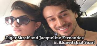 Tiger Shroff and Jacqueline Fernandez in Ahmedabad Surat - Flying Jatt Music Lanuch