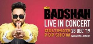 Ultimate Pop Show Badshah Live in Concert 2019 in Ahmedabad at Sardar Patel Stadium