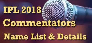 VIVO IPL 2018 Cricket Match Live Commentators Name List