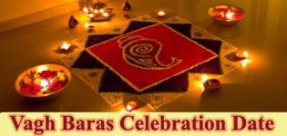 Vagh Baras 2017 Date India Gujarat - Importance of Diwali Vagh Baras Festival Celebration Information
