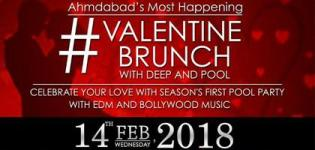 Valentine Brunch Party 2018 in Ahmedabad at Crazy Guys Town with Deejay Purvish & Deejay Heck