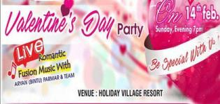 Valentine Day Party 2016 in Gandhidham Gujarat at Holiday Village Resort on 14 February