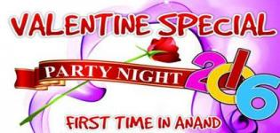 Valentine Party Night 2016 in Anand Gujarat on 14th February - Date Venue Details