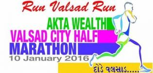 Valsad City Half Marathon 2016 at Swaminarayan Temple Tithal on January - Run Valsad