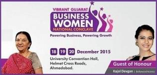 Vibrant Gujarat Business Women National Conclave 2015 in Ahmedabad Inaugurated by Kajol Devgan