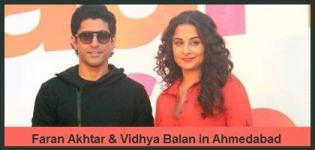 Vidya Balan and Farhan Akhtar in Ahmedabad for Promotion of Shaadi Ke Side Effects 2014 Movie