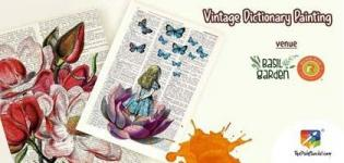 Vintage Dictionary Painting organized by The Paint Social for People in Surat