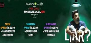 Vir Das Unbelievablish Event 2015 in Ahmedabad Vadodara Surat - Date & Venue Details
