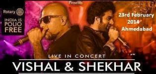 Vishal Shekhar Live in Concert 2014 in Ahmedabad Gujarat