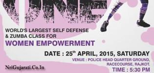 WE THE ONE Self Defense and Zumba Class for Women Empowerment in Rajkot - April 2015