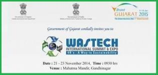 Wastech International Summit & Expo 2014 in Gandhinagar Gujarat