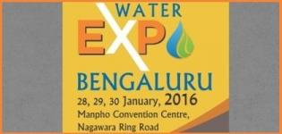 Water Indias Water Expo 2016 Bangalore - Trade Show on the Indian Water Industry