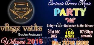 Welcome 2016 Electronic DJ Bony Dance Party at Village Vatika Gandhinagar