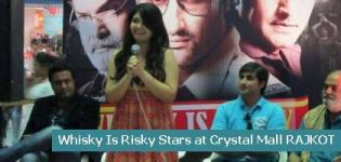 Whisky Is Risky Stars at Crystal Mall RAJKOT for Movie Promotion