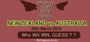 Who Will Win NEW ZEALAND Vs AUSTRALIA Final on 29th March 2015, Sunday ? ?