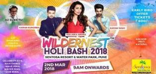 Wildernest Holi Bash 2018 in Mumbai at Sentosa Water Park with Malaika Arora Karan Kundra & Karan Wahi