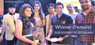 Winners & Runners Up - Male Female & Child at SUR GUJRAT KE 2015 - Kutch Grand Finale on 7th June