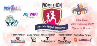 Womethon Female Night Marathon 2019 in Vapi at ROFEL GRIMS