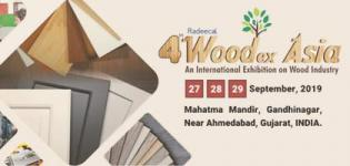Woodex Asia 2019 in Gandhinagar from 27th to 29th September