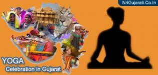 Yoga Day Celebration in Gujarat 2015 - Latest Photos New Images of People Performing Yoga
