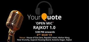 YourQuote Open Mic Rajkot 1.0 2019 - A Great Opportunity Platform for Writers