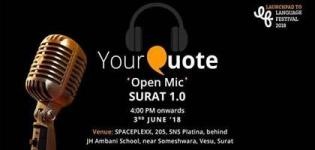 Your Quote Open Mic 1.0 Event Arrange for You All in Surat City - Open Mic Event Details