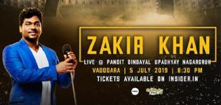 Zakir Khan Live Vadodara at Pandit Dindayal Upadhyay Nagar Gruh on 5 July