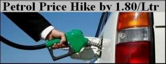 Rs.1.80 per litre Petrol hike in Gujarat
