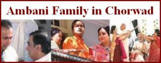 Ambani Family in Chorwad on Dhirubhai Ambani�s 80th Birth Anniversary