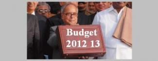 Indian Union Budget 2012 13
