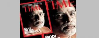 Narendra Modi on Time Magazine Cover Page - In List of Top 100 Time Power Faces