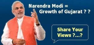 Narendra Modi = Growth of Gujarat ? ?