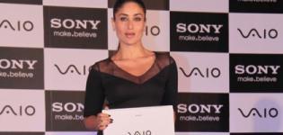 Kareena Kapoor unveils the new Sony Vaio Laptop Range