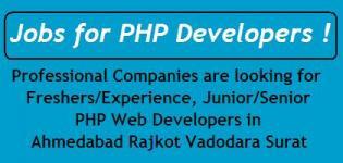 PHP Developer Jobs in Gujarat Cities Ahmedabad Rajkot Vadodara Surat