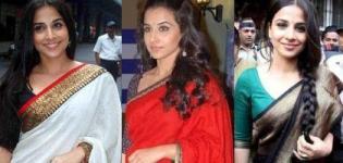 Vidya Balan in Saree Pics - Hot Bollywood Actress Vidya Balan in Saree Photoshot Images