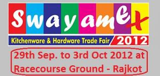 Swayamex Kitchenware Hardware Trade Fair in Rajkot Gujarat India