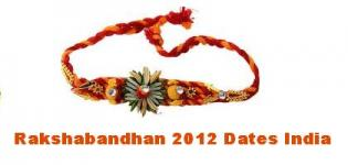 Raksha Bandhan 2012 Date and Day India Calendar